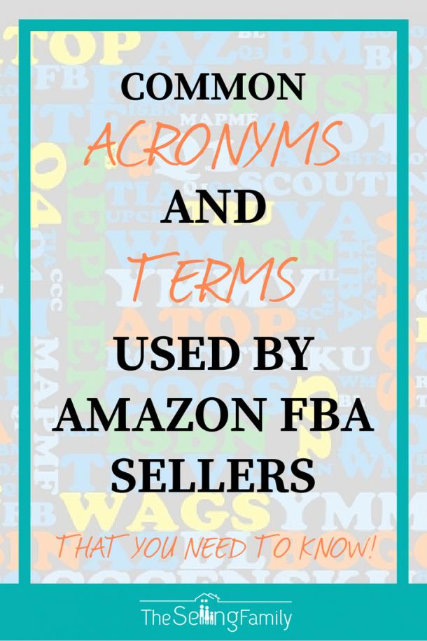 亚马逊FBA卖家使用的常用缩略语和术语