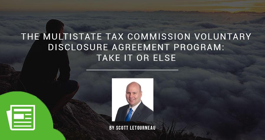 多级税务委员会自愿披露协议计划 - 采取或不采用